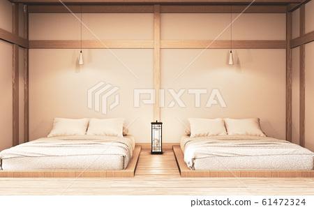 Luxury modern zen style bedroom mock up, Designing 61472324