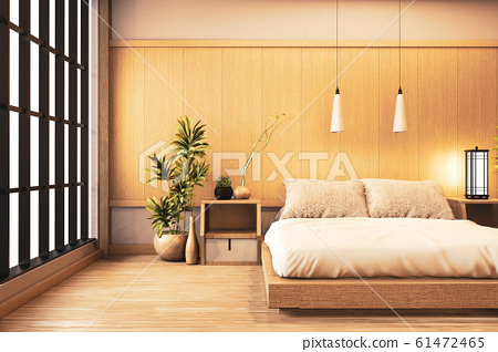 Interior Luxury modern Japanese style bedroom 61472465