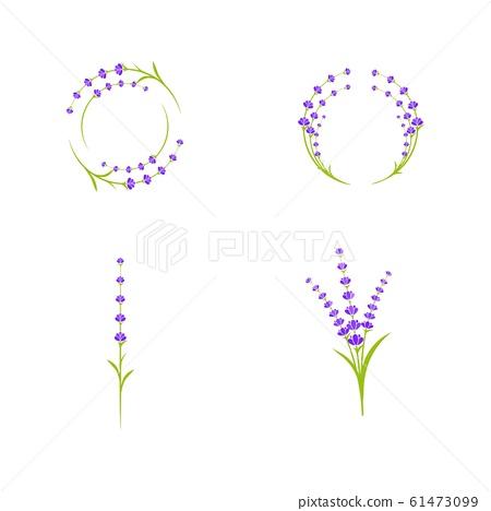 Lavender flower Vector icon illustration 61473099