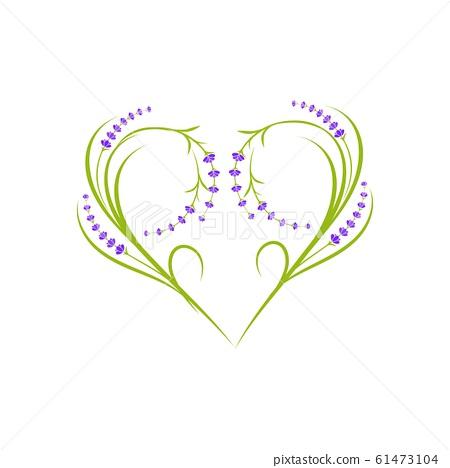 Lavender flower Vector icon illustration 61473104