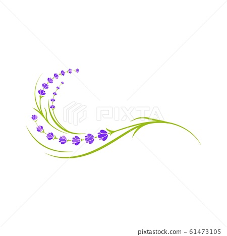 Lavender flower Vector icon illustration 61473105
