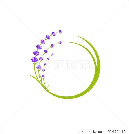 Lavender flower Vector icon illustration 61473113