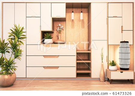Design Cabinet shelf wooden japanese style  61473326