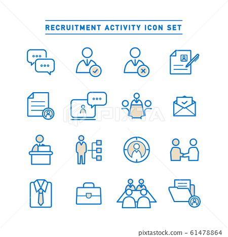 RECRUITMENT ACTIVITY ICON SET 61478864