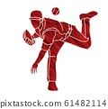 Baseball player action cartoon graphic vector. 61482114