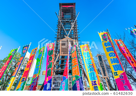 도쿄 료 고쿠 국 기관 櫓太鼓와 스모 달해 61482630