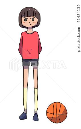 Basketball and basketball player 61484139