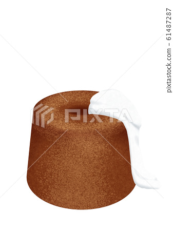 Chocolate chiffon cake with cream 61487287