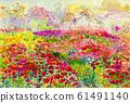 Original landscape colorful of flowers fields. 61491140