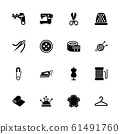 Tailoring - Flat Vector Icons 61491760