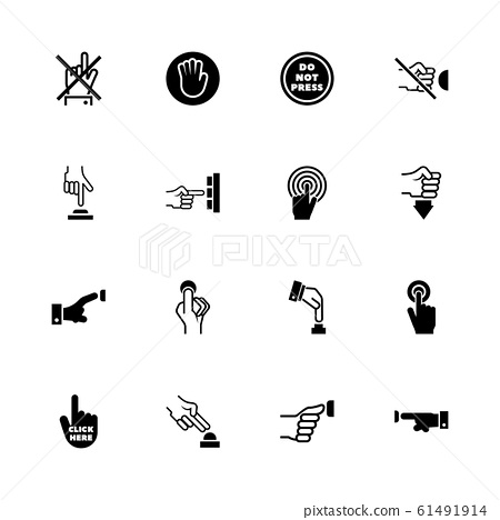 Buttons - Flat Vector Icons 61491914