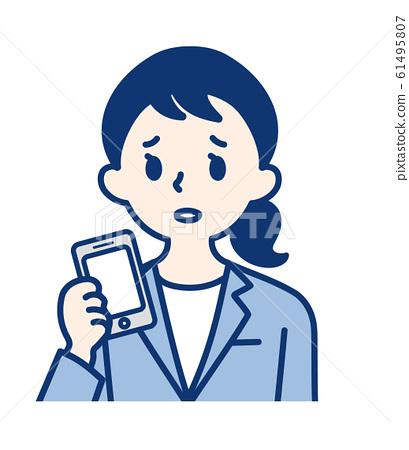 成人(智能手机和女性) 61495807