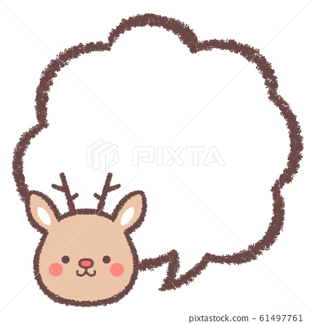 Reindeer speech bubble 61497761