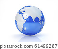 Earth globe stylized. Asia view. 61499287