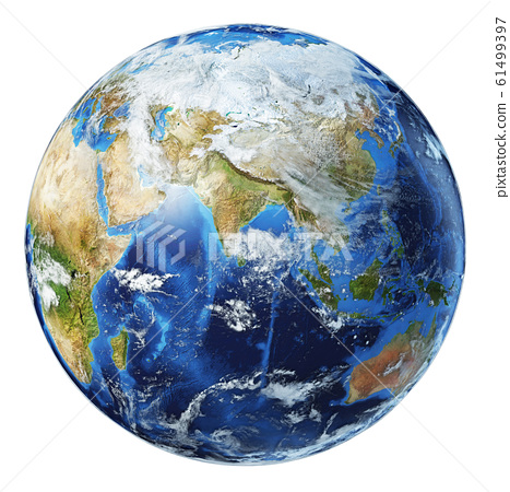 Earth globe 3d illustration. Asia view. 61499397