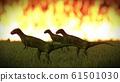 Dinosaur doomsday coming on 3d rendering 61501030