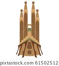 Isolated Sagrafa Familia church 61502512