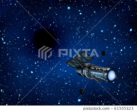 Black hole in universe. Wormhole and blue nebula 61505823