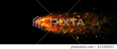 抽象的火箭以極快的速度穿越黑暗 61506901