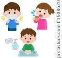 Cold measures set illustration 61508620