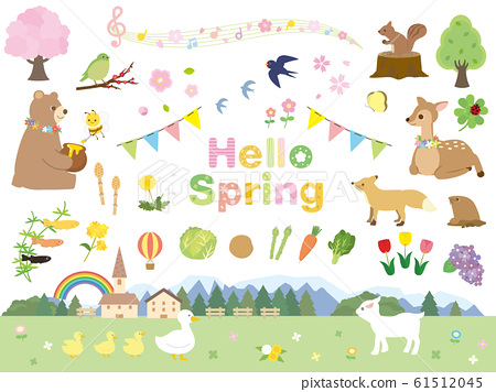 Spring animal and nature material collection 61512045