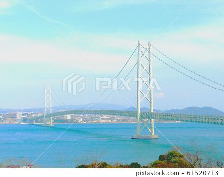從Awajishima的明石海峽大橋 61520713