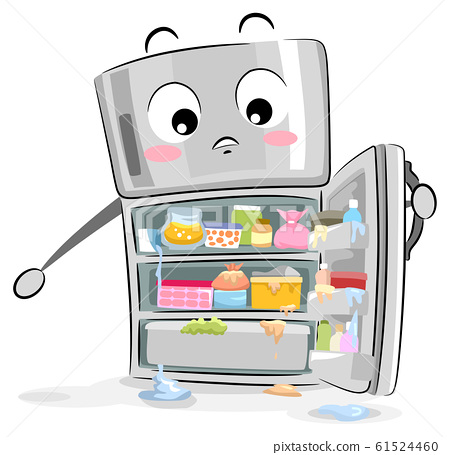 Mascot Refrigerator Messy Illustration 61524460