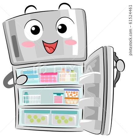 Mascot Refrigerator Organized Illustration 61524461