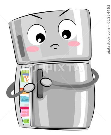 Mascot Refrigerator Full Illustration 61524463