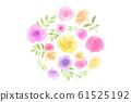 화려한 꽃의 원형 61525192