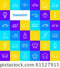 Transport Line Icons 61527915
