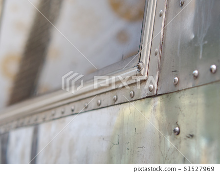 Aluminum wall or rustic metal sheet background.  61527969