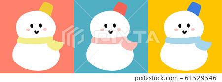 Snowman 3 color set 61529546