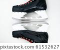 Hockey skates closeup isolated 61532627