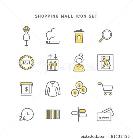 商場 商業企業 圖標 61533459