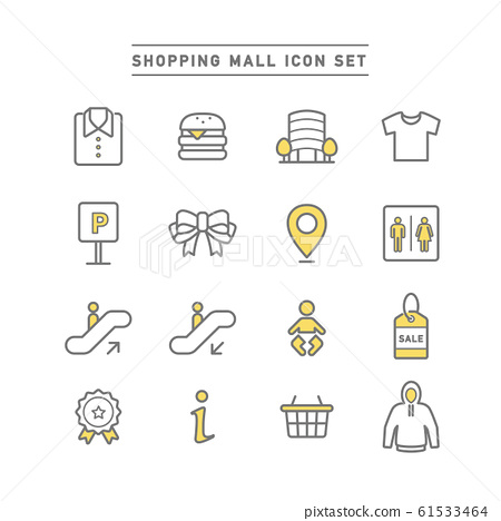 SHOPPING MALL ICON SET 61533464