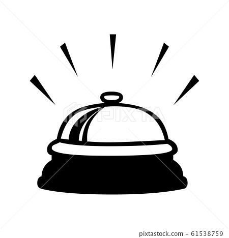 Black bell service symbol for banner, general 61538759