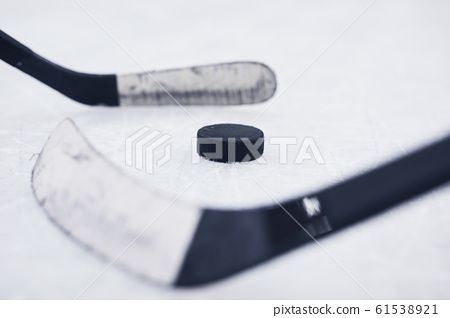 Hockey Background Closeup 61538921