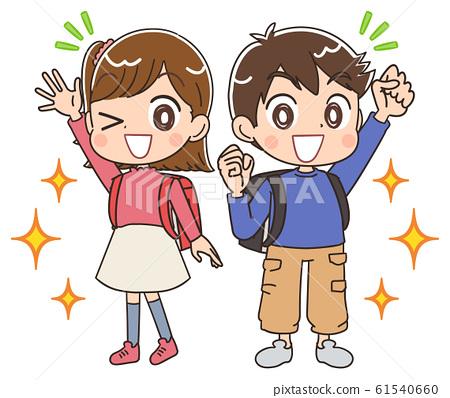 孩子们儿童可爱卡通素材 61540660