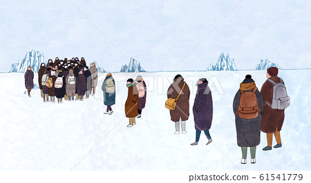 Wintertime concept, ways to stay warm or fight the winter cold illustration 002 61541779