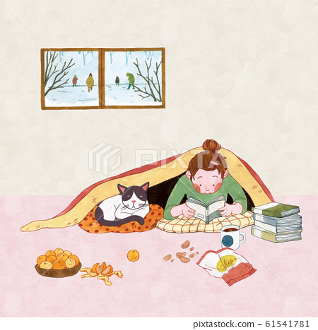 Wintertime concept, ways to stay warm or fight the winter cold illustration 003 61541781