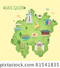 South Korea's landmark map illustration 004 61541835