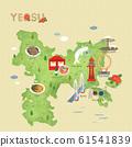 South Korea's landmark map illustration 008 61541839