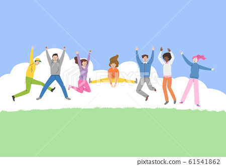 Crowd people and groups concept illustration 007 61541862