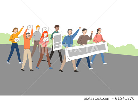 Crowd people and groups concept illustration 002 61541870
