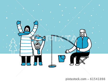Winter family, enjoy the winter season together illustration 002 61541898