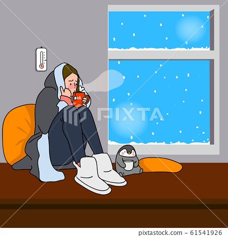 Wintertime concept, ways to stay warm or fight the winter cold illustration 003 61541926