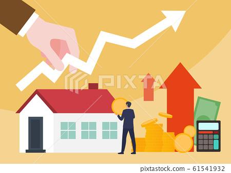 Financial concept, increasing arrow illustration 004 61541932
