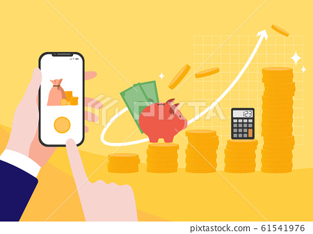 Financial concept, increasing arrow illustration 017 61541976