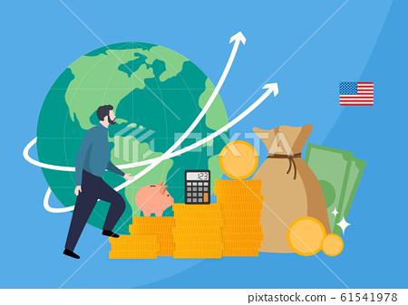 Financial concept, increasing arrow illustration 019 61541978